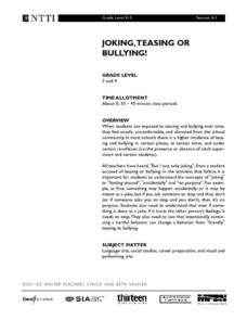 Joking, Teasing or Bullying! Lesson Plan