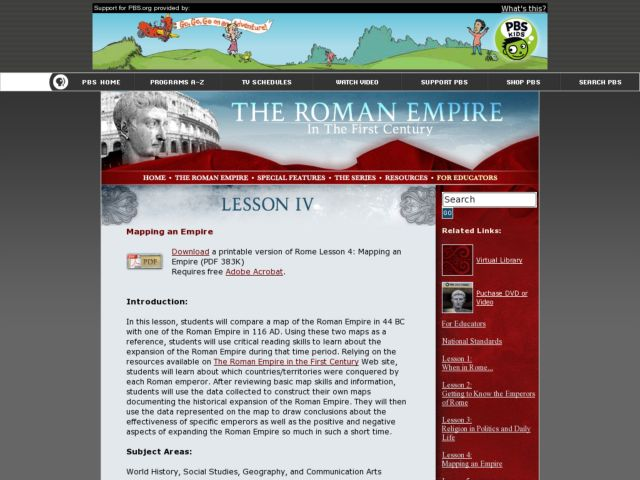 Mapping an Empire Lesson Plan