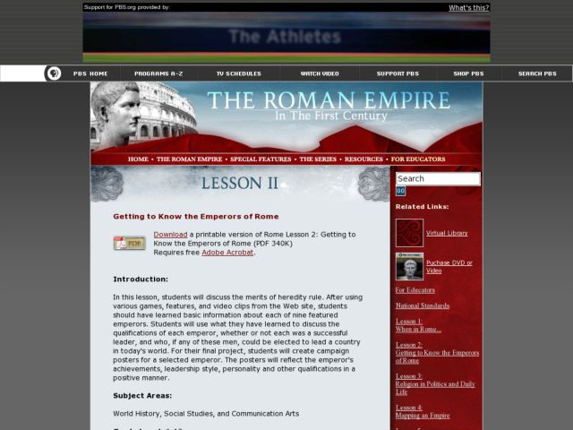 Getting to Know the Emperors of Rome Lesson Plan