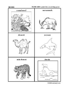Animal Habitats Worksheet