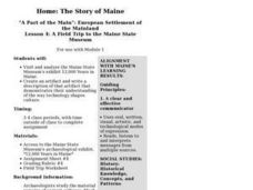 Lesson 4: A Field Trip to the Maine State Museum Lesson Plan