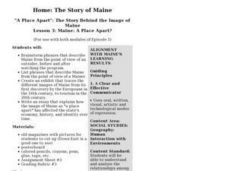 Maine: A Place Apart? Lesson Plan