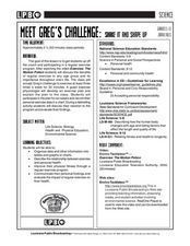 Meet Greg's Challenge: Shake It And Shape Up Lesson Plan