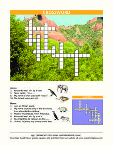 Animal Crossword Puzzle Lesson Plan