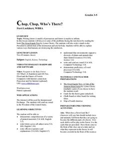 Chop, Chop, Who's There? Lesson Plan