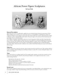 African Power Figure Sculptures Lesson Plan