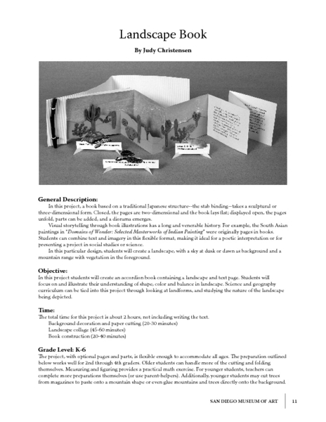 Landscape Book Lesson Plan