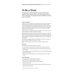 To Be a Drum Lesson Plan