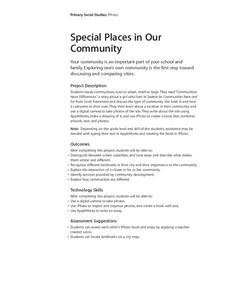 Special Places in Our Community Lesson Plan
