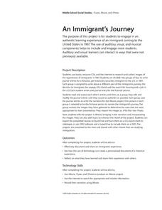 An Immigrant's Journey Lesson Plan