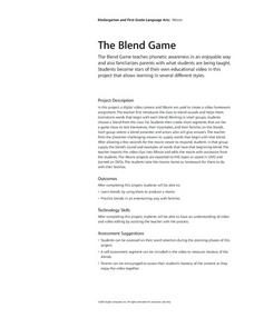 The Blend Game Lesson Plan