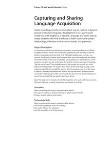Capturing and Sharing Language Acquisition Lesson Plan