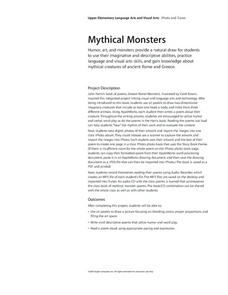 Mythical Monsters Lesson Plan
