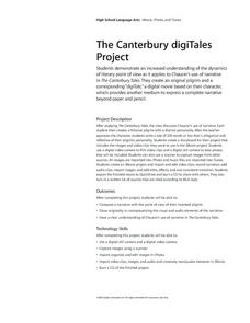 The Canterbury digiTales Lesson Plan