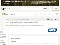 Substances And Chemical Reactions Lesson Plan