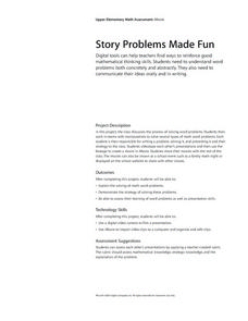 Story problems Made Fun Lesson Plan