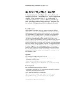 iMovie Projectile Project Lesson Plan