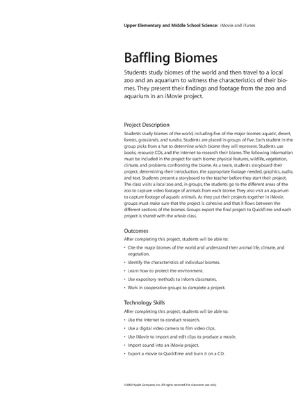 Baffling Biomes Lesson Plan