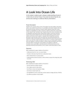 A Look Into Ocean Life Lesson Plan