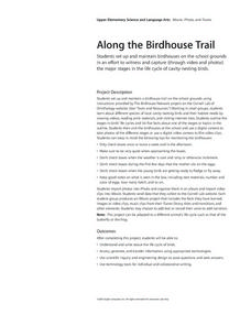 Along the Birdhouse Trail Lesson Plan