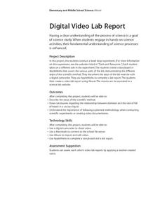Digital Video Lab Report Lesson Plan