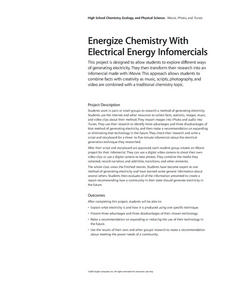 Energize Chemistry With Electrical Energy Infomercials Lesson Plan
