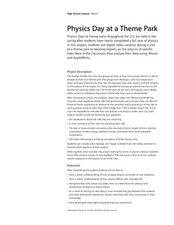 Physics Day at a Theme Park Lesson Plan