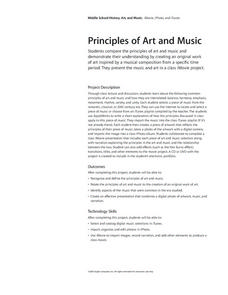 Principles of Art and Music Lesson Plan