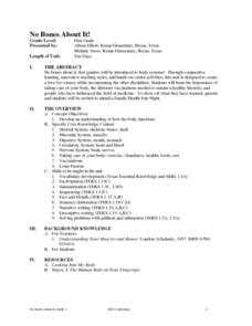 Muscular System Lesson Plans Worksheets Lesson Planet