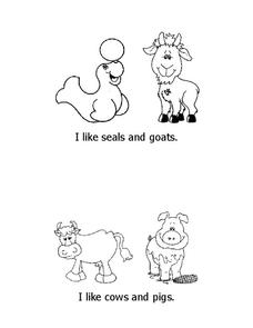 Animal Sentences Worksheet