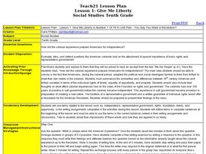 Give Me Liberty Lesson Plan