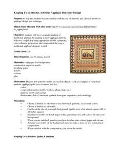 Keeping Us in Stitches Activity: Appliqué Bedcover Design Lesson Plan