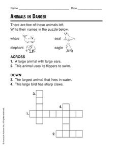 Animals in Danger Worksheet