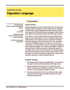 Figurative Language Lesson Plan
