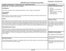 bake a cake lesson plans worksheets reviewed by teachers