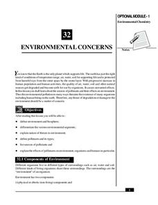 Environmental Concerns Handouts & Reference