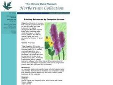 Painting Botanicals by Computer Lesson Lesson Plan