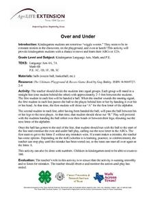 Over and Under Lesson Plan