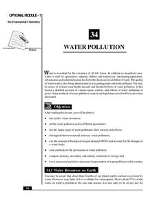 Water Pollution Handouts & Reference