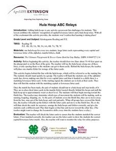 Hula Hoop ABC Relays Lesson Plan