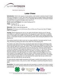 Letter Chase Lesson Plan