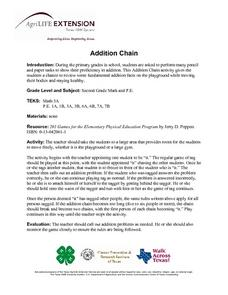 Addition Chain Lesson Plan
