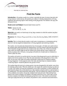 Find the Facts Lesson Plan