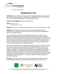 Multiplication Toss Lesson Plan