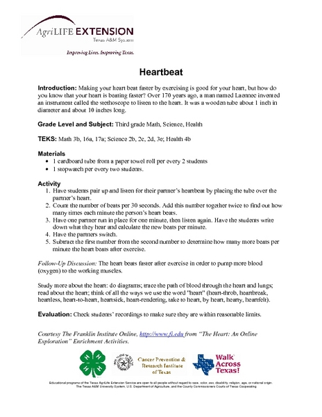 Hearbeat Lesson Plan