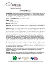 """Timed"" Escape Lesson Plan"
