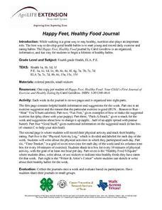 Happy Feet, Healthy Food Journal Lesson Plan