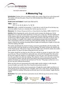 A Measuring Tug Lesson Plan