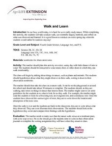 Walk and Learn Lesson Plan