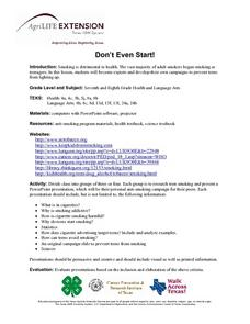 Don't Even Start! Lesson Plan